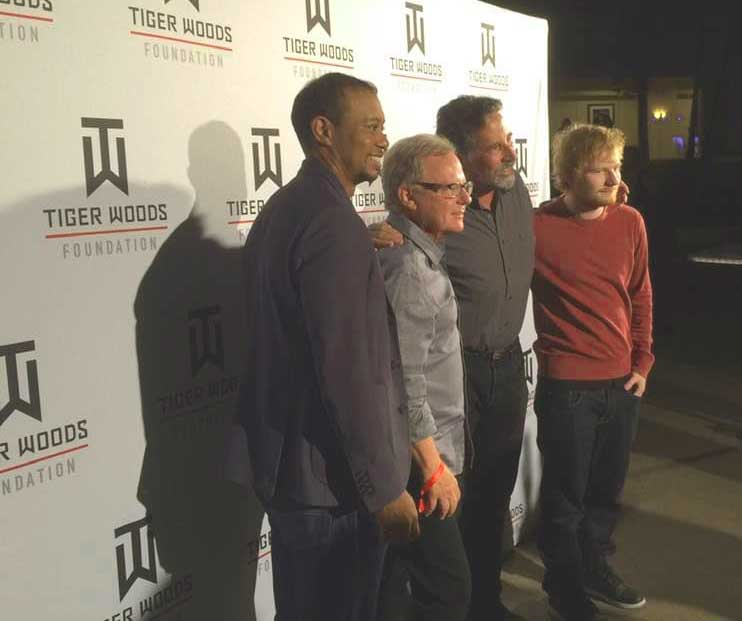 Bill Ross with Tiger Woods at a TGR Foundation event
